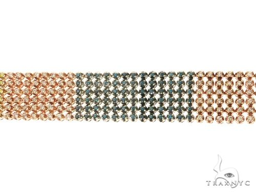 14K Tri Color Gold Prong Diamond Bracelet 63732 Diamond