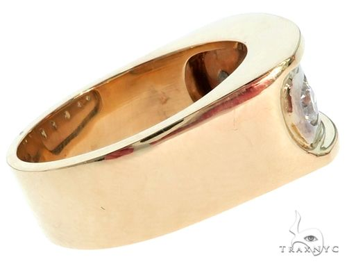 14K Two Tone Gold Channel Diamond Five Stone Ring 61772 Stone