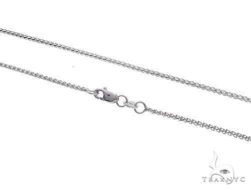 14K WG Solid Franco Chain 18 Inches 1.1 mm 3.0 Grams 65607 Gold