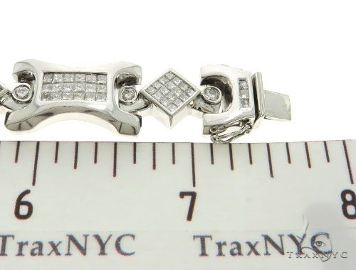 14K White Gold Bezel Invisible Diamond Bracelet 62560 Diamond