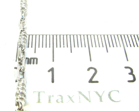 14K White Gold Chain 22 Inches, 3mm, 15.9 Grams Gold