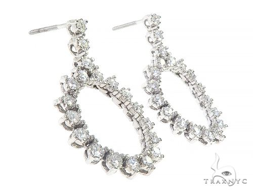 14K White Gold Chandelier Diamond Earnings 65451 Stone