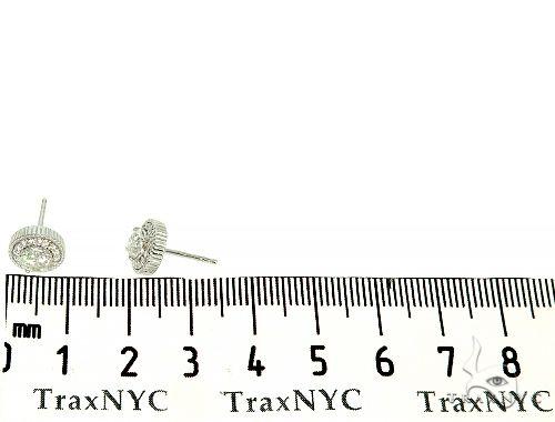 14K White Gold Cluster Stud Diamond Earrings 65974 Stone