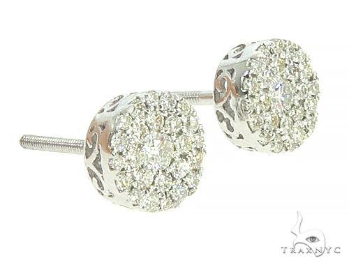 14K White Gold Cluster Stud Earrings 65852 Style