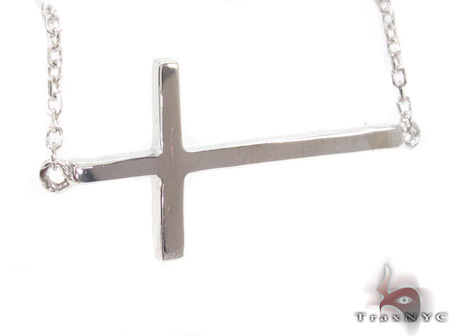 14K White Gold Cross Crucifix Necklace 33976 Gold