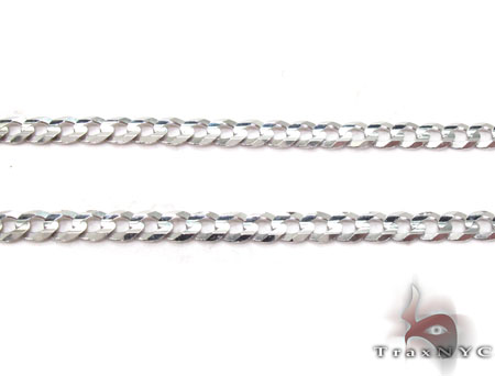 14K White Gold Cuban Chain 22 Inches 2.5mm 5.90 Grams Gold