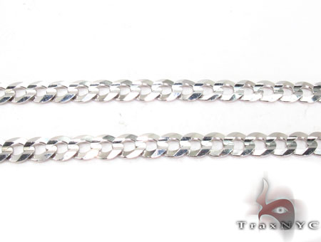 14K White Gold Cuban Chain 22 Inches 5mm 13.2 Grams Gold