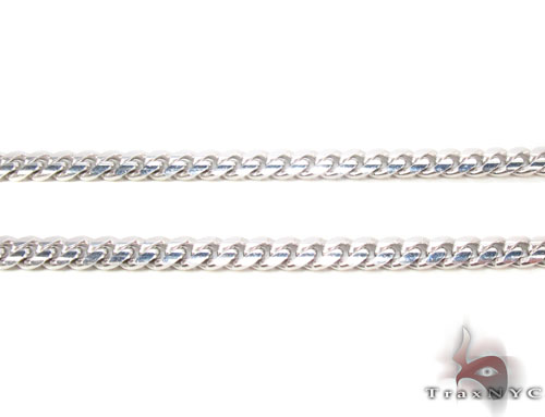 14K White Gold Cuban Chain 26 Inches, 3mm, 21.3Grams Gold