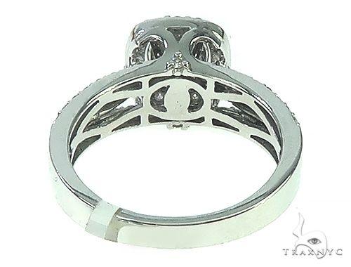 14K Gold Diamond Cluster Halo Engagement Ring 65730 Engagement