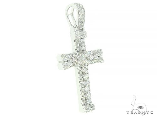 14K Gold Diamond Cross 65840 Diamond Cross Pendants
