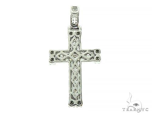14K White Gold Diamond Cross 65840 Diamond Cross Pendants