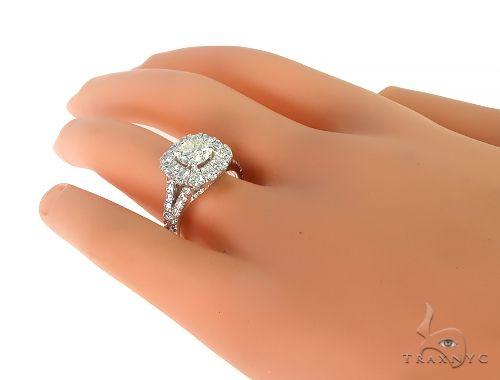 14K White Gold Diamond Engagement Ring 66139 Wedding