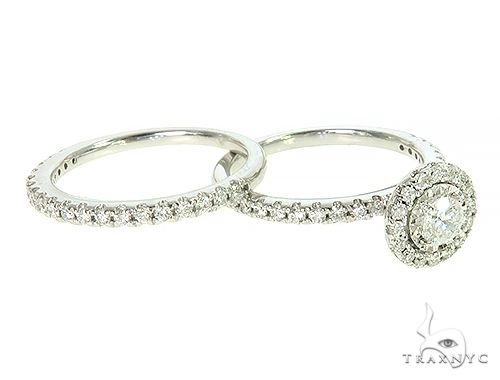 14K White Gold Diamond Engagement Ring Bridal Set 65973 Engagement