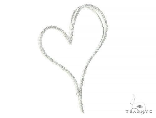 14K White Gold Diamond Heart Pendant 65864 Style