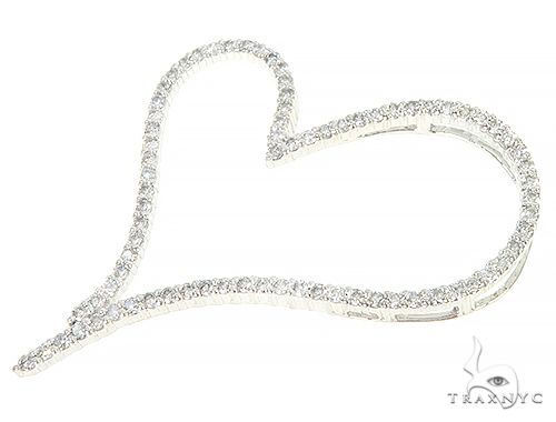 14K White Gold Diamond Heart Pendant 65865 Style