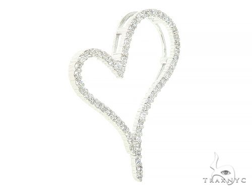 14K White Gold Diamond Heart Pendant 65866 Style