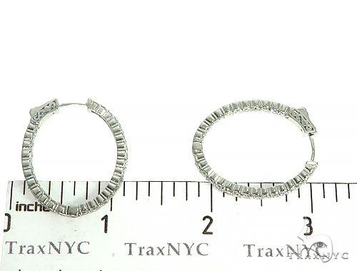 14K White Gold Diamond Hoops Earrings 66134 Style