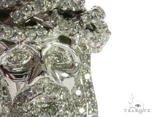 14K White Gold Diamond Jesus Head Pendant 63959 Style