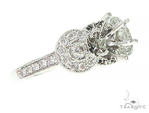 14K White Gold Diamond Semi Mount Engagement Ring 66143 Engagement