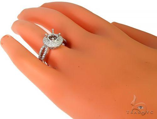 14K White Gold Diamond Semi Mount Engagement Ring 66149 Engagement