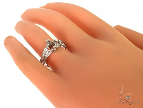 18K White Gold Diamond Semi Mount Engagement Ring 66150 Engagement