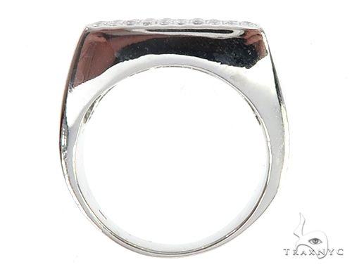 14K White Gold Diamond Square Ring 65082 Stone