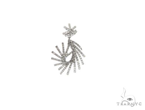 14K White Gold Diamond Stud Design Pendant. 63330 Stone