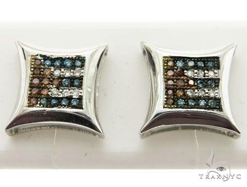14K White Gold Diamond Stud Earrings 62598 Stone