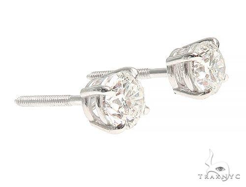 14K White Gold Diamond Stud Earrings 66054 Stone