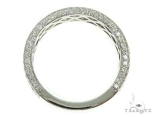 14K White Gold Diamond Wedding Band 66138 Stone