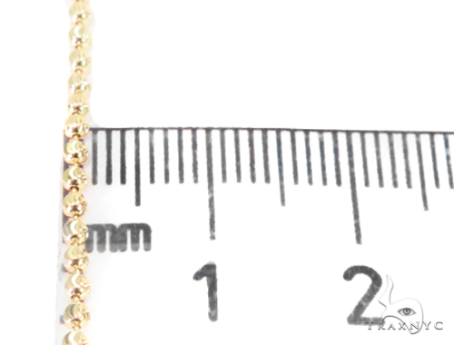 14K Yellow Gold Moon Cut Chain 16 Inches 2mm 4.2 Grams 44694 Gold