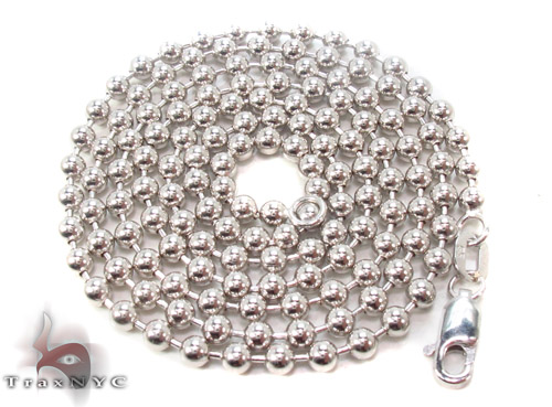 14K White Gold Fancy Link n 24 Inches, 3mm, 17.30 Grams Gold