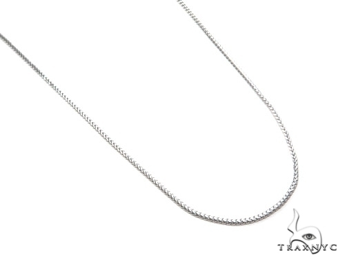 14K White Gold Franco Chain 16 Inches, 1.5mm, 5.49Grams Gold