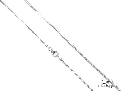 14K White Gold Franco Chain 18 Inches, 1mm, 4.33Grams Gold