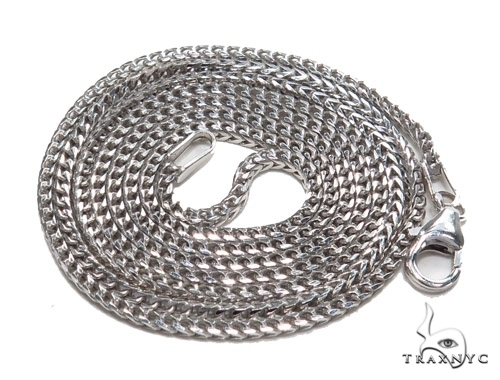 14K White Gold Franco Chain 20 Inches, 1mm, 4.80Grams Gold