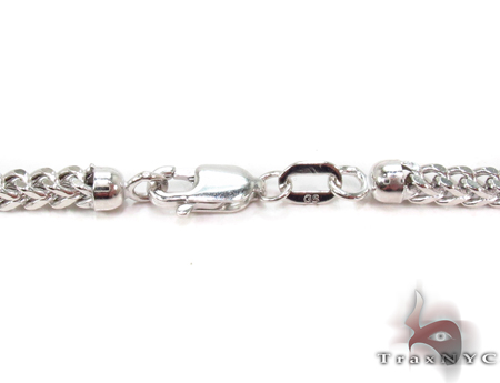 14K White Gold Franco Chain 36 Inches 3mm 19.89 Grams Gold