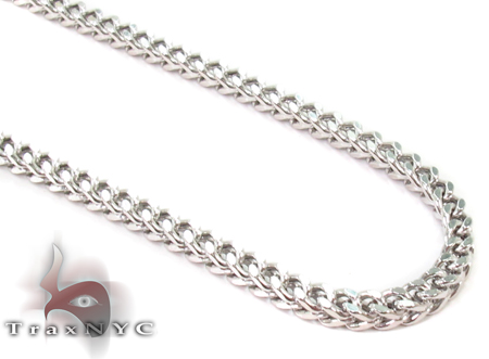 14K White Gold Franco Chain 38 Inches 3mm 21 Grams Gold
