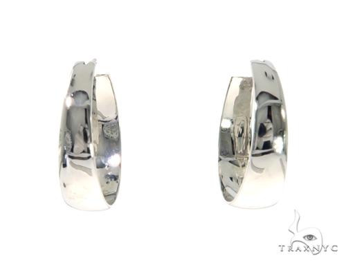 14K White Gold Hoop Earrings 48973 Style