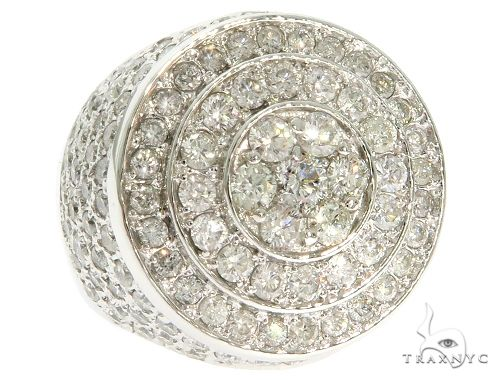 14K White Gold Mayan Pinky Ring 61631 Stone