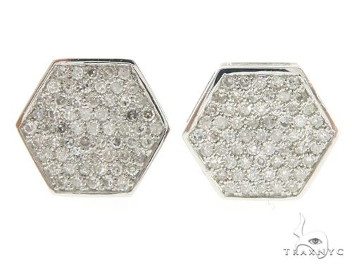 14K White Gold Micro Pave Diamond Earrings 61436 Stone
