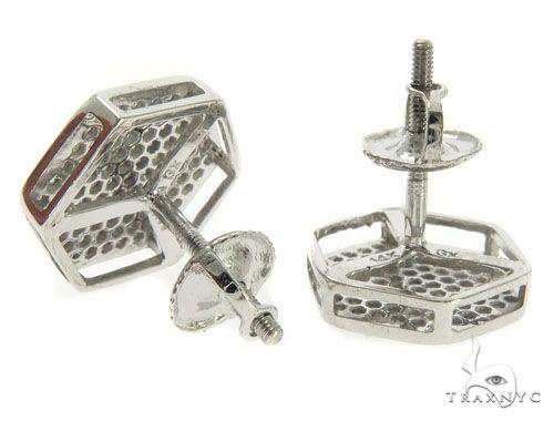 14K White Gold Micro Pave Diamond Earrings 61437 Stone