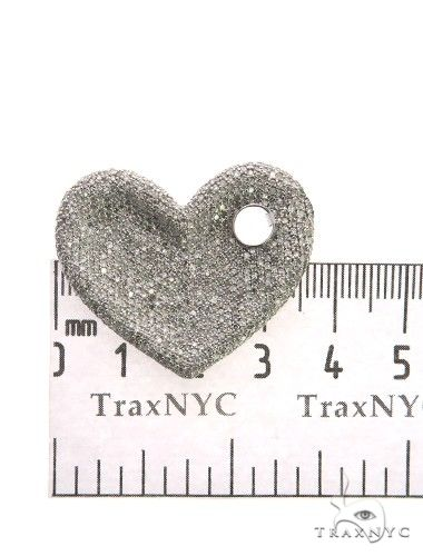 14K White Gold Micro Pave Diamond Heart Pendant 63546 Stone