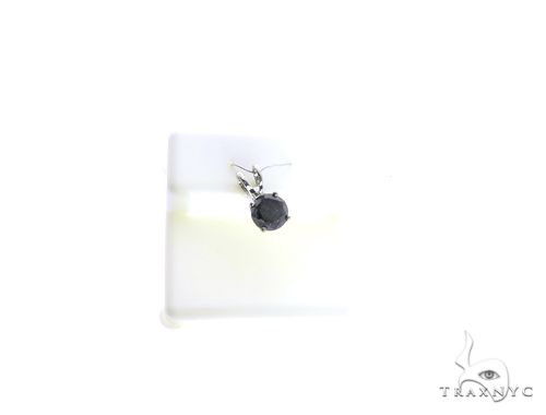 14K White Gold Micro Pave Diamond Pendant 63126 Stone