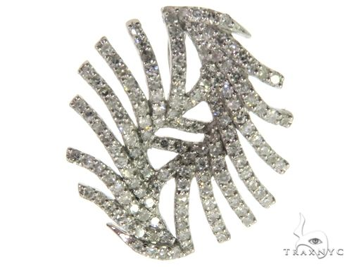 14K White Gold Micro Pave Diamond Pendant 63286 Metal