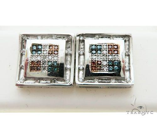 14K White Gold Micro Pave Diamond Stud Earrings 62601 Stone