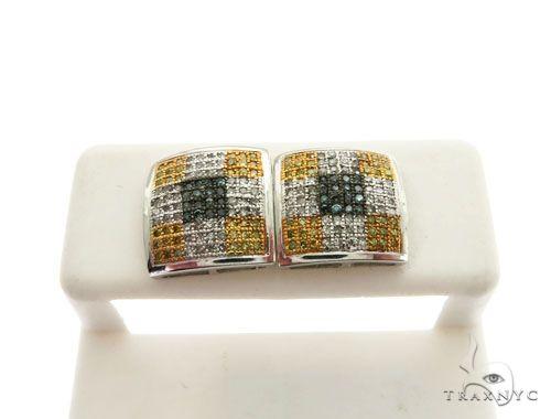 14K White Gold Micro Pave Diamond Stud Earrings 62605 Stone