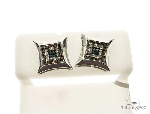 14K White Gold Micro Pave Diamond Stud Earrings 62999 Stone