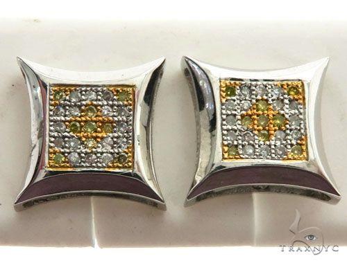14K White Gold Micro Pave Diamond Stud Earrings 63001 Stone