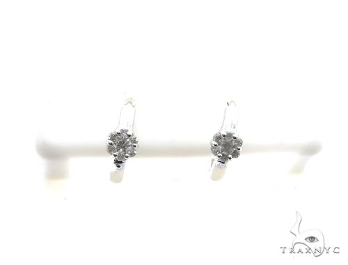 14K White Gold Micro Pave Diamond Stud Earrings 63137 Stone