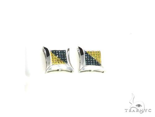14K White Gold Micro Pave Diamond Stud Earrings 63138 Stone